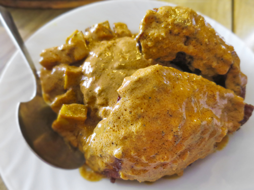 Fried Chicken Paprikash in Gravy