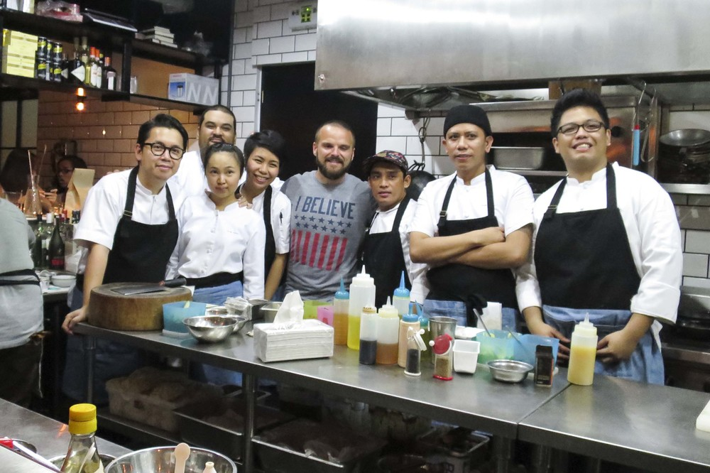 Nate with kitchen crew