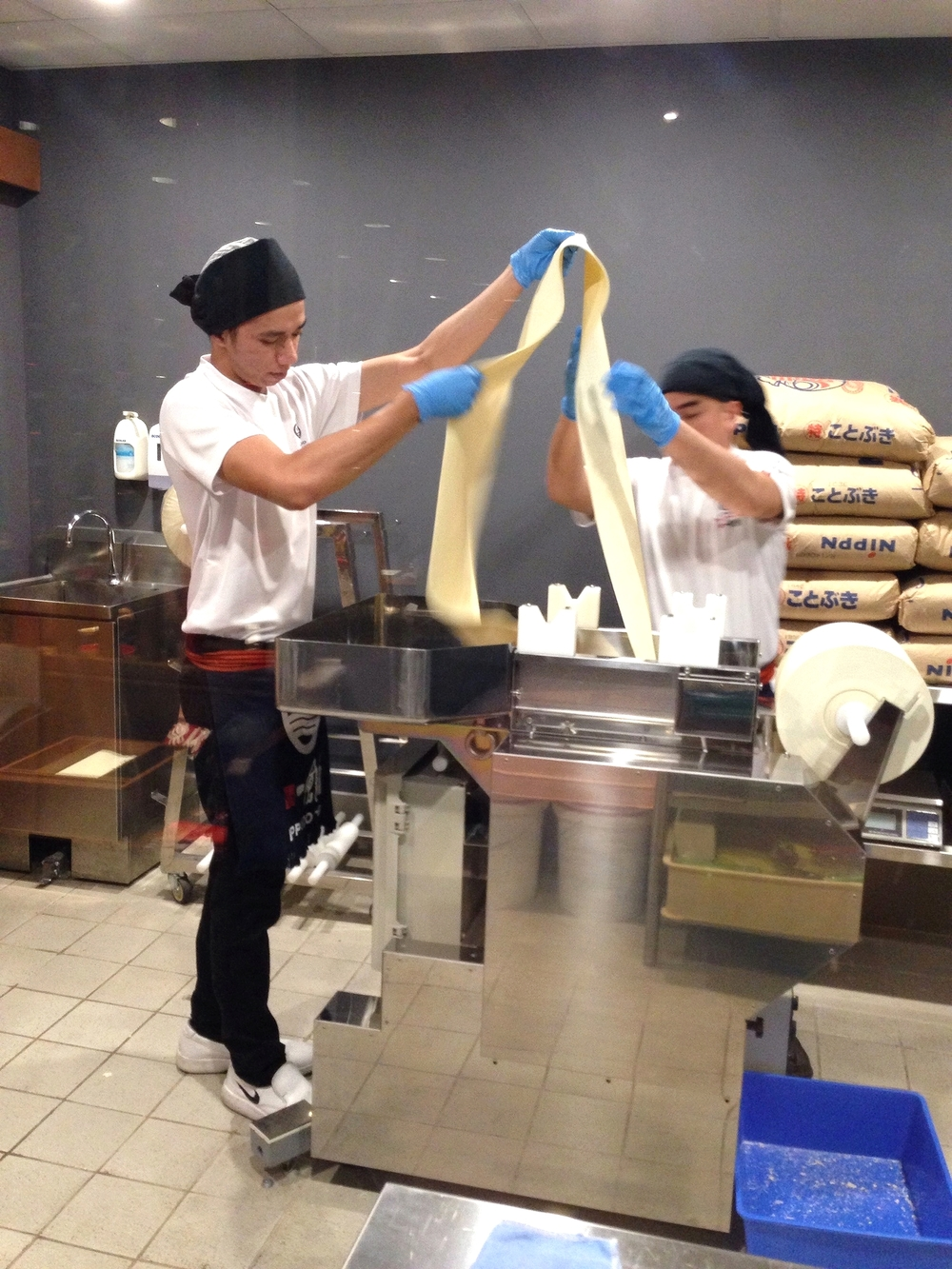 Making their noodles in house at Ippudo.