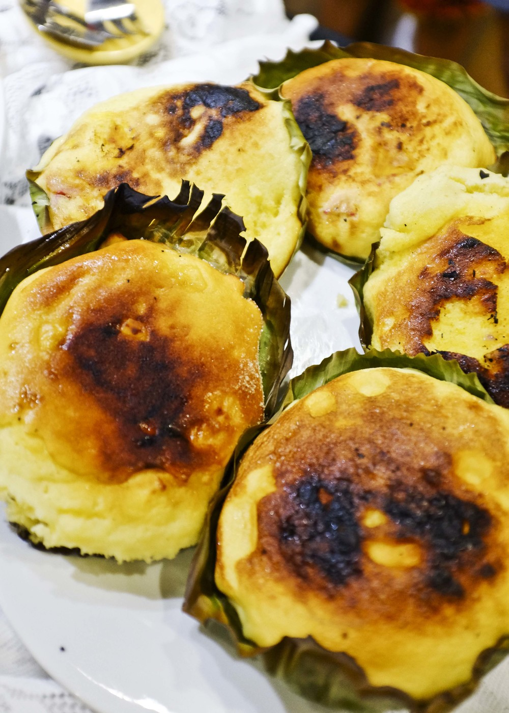 BIBINGKA.  Sorry kids. Was too full to eat this! Looked yummy, though!