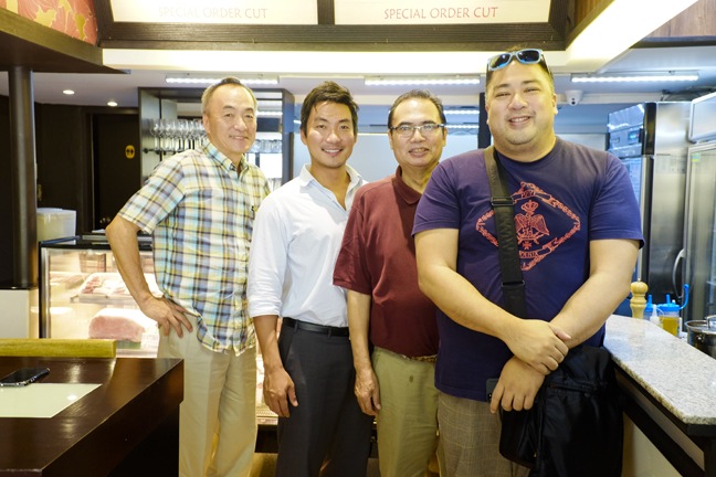 The men behind Wagyu Japanese Beef Meat Shop: Yoshikazu Yayano, Takayuki Hayano and Chef Seiji Kamura