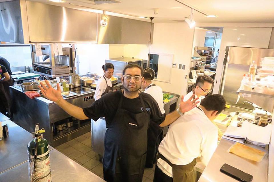 This lunch was crazy, chaotic and also FUN! Thanks for the opportunity to eat the grub of @gaggan and @chele999 at @galleryvask , @chertiu   😁  Well done!