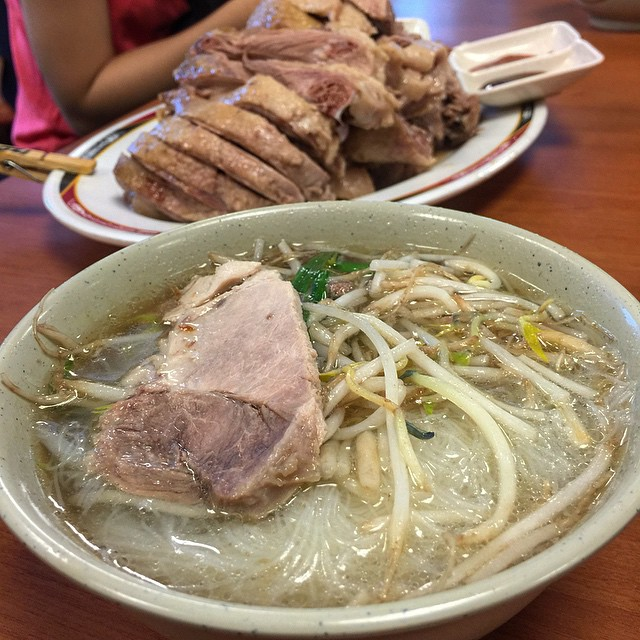By far my favorite meal yet - boiled goose and noodles. Clean and tasty! Sooooo good!
