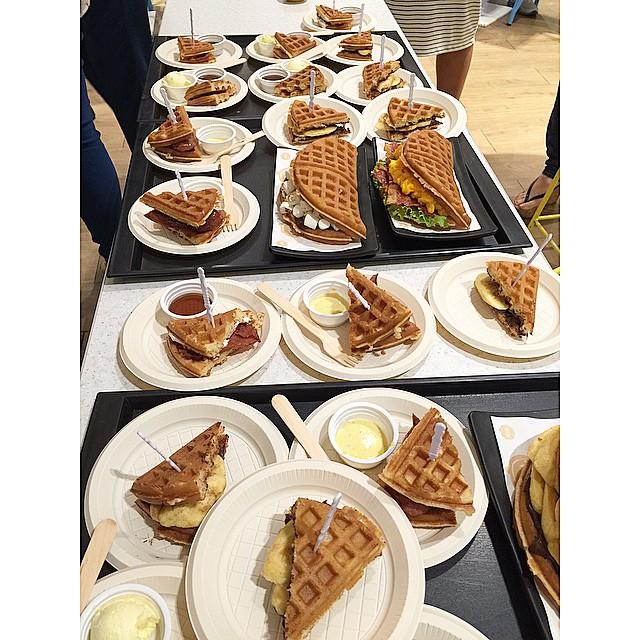 Best eaten hot at   #Waffos  - a   #LegaspiMarket  homegrown food biz, now at   #MegaFoodHall  !