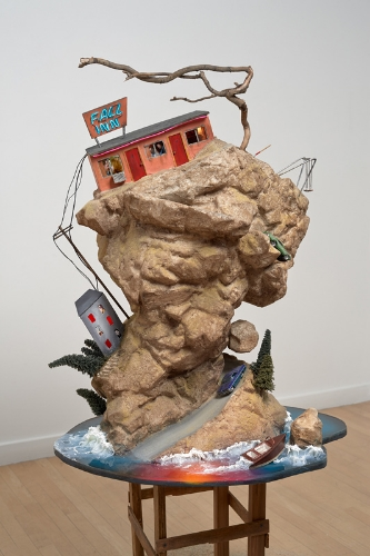 Tracey Snelling,  Danger Mountain  2013, mixed media, 36 x 28 x 22 inches