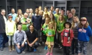 Andreas Ivanschitz and Austrian fans