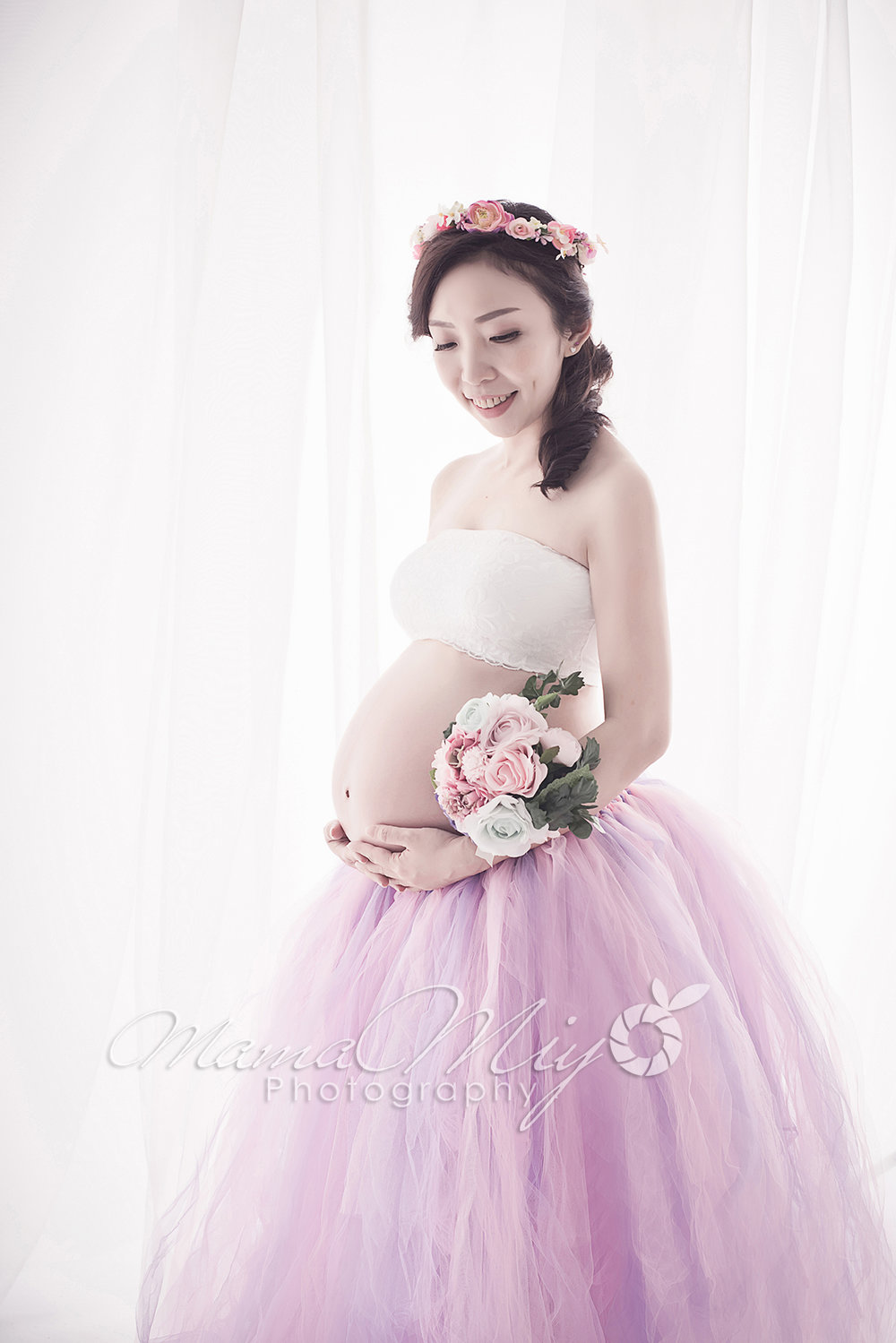 Purple tutu maternity photography singaproe
