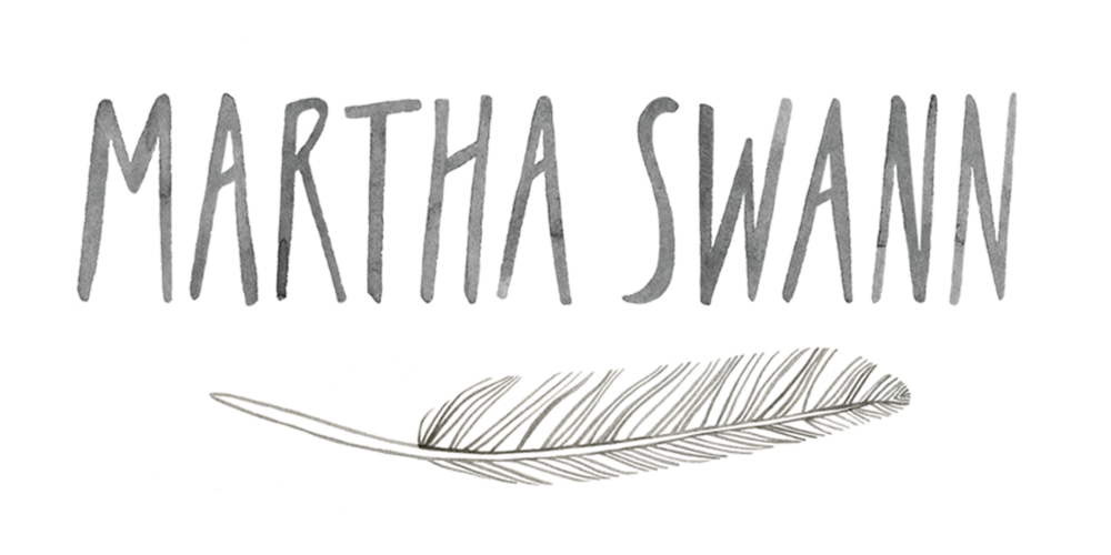 Martha's final logo shown here in greyscale