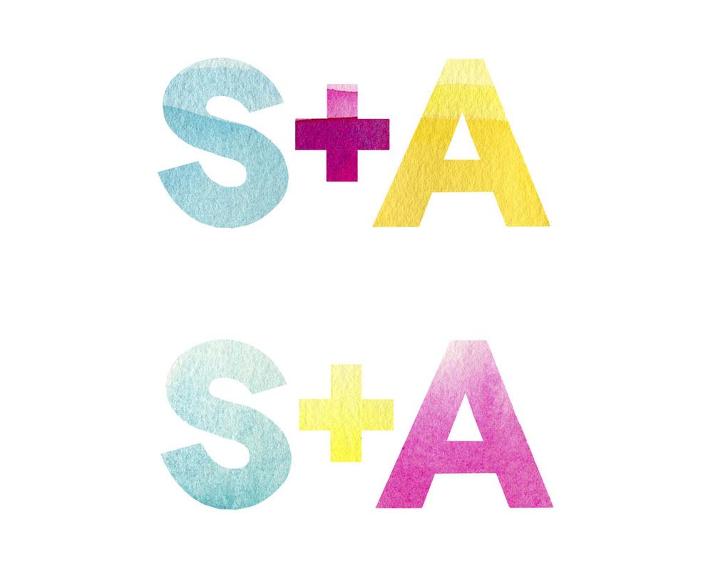 Logo skeches in color