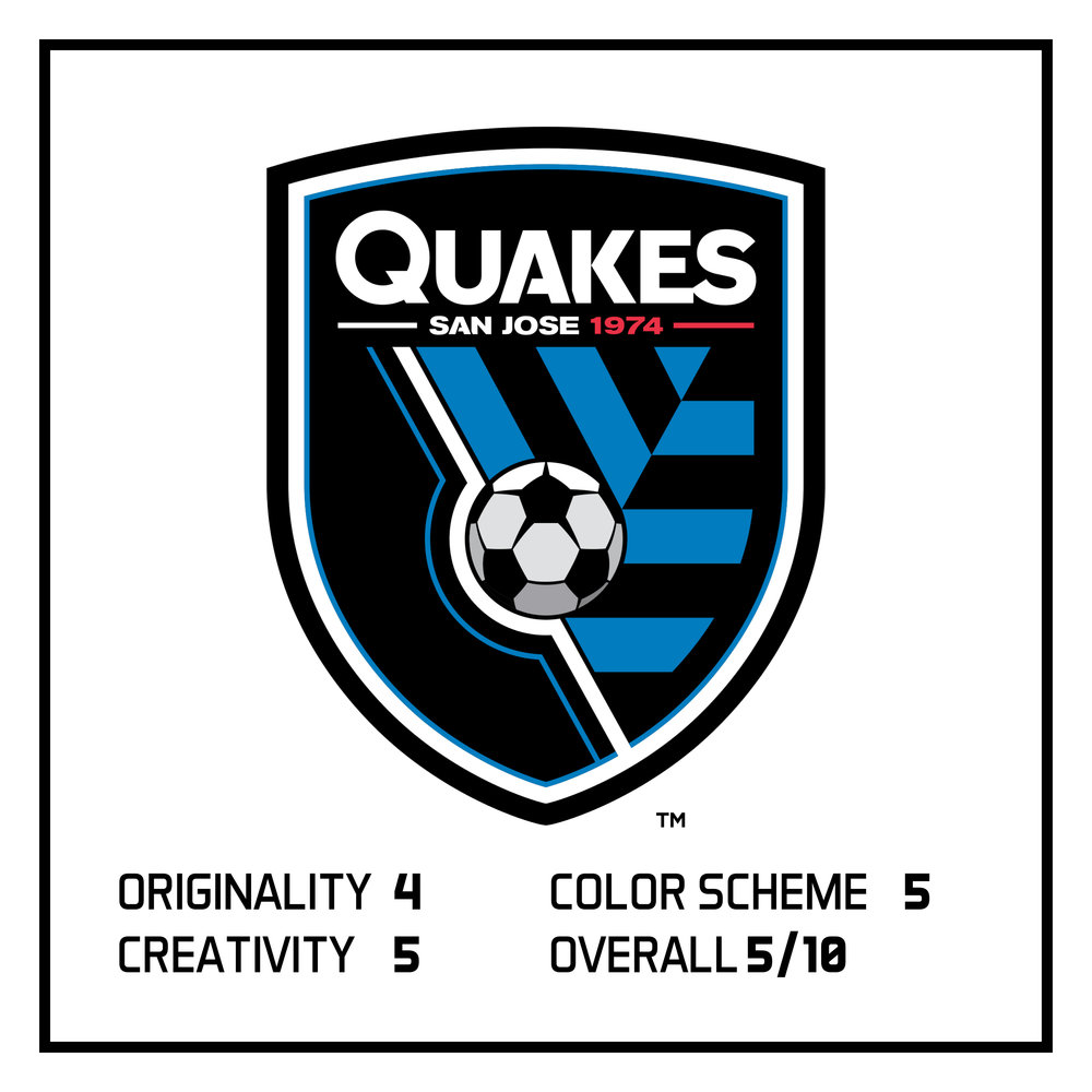 In Monday's post, I ranked San Jose Earthquakes as #4 in the bottom 5 logos in the MLS.  View here