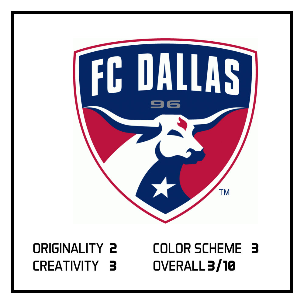 Previously, I ranked FC Dallas as #2 in the BottomFive logos in the MLS.  View here