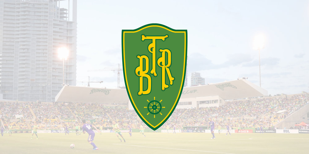 Full color badge alternate of the Tampa Bay Rowdies.
