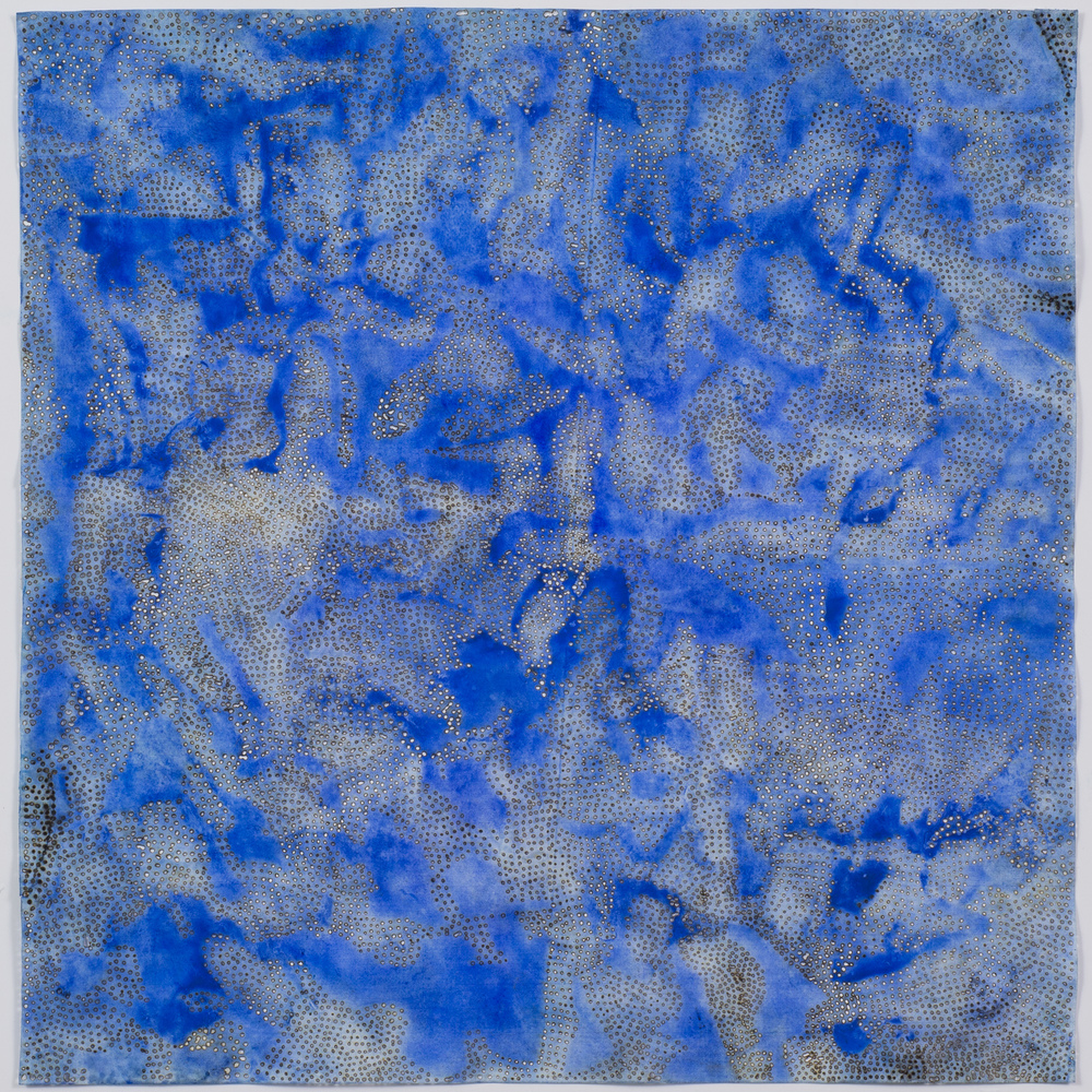 "Blue 6,  2015  solar-burned pigmented paper  22"" x 22"""