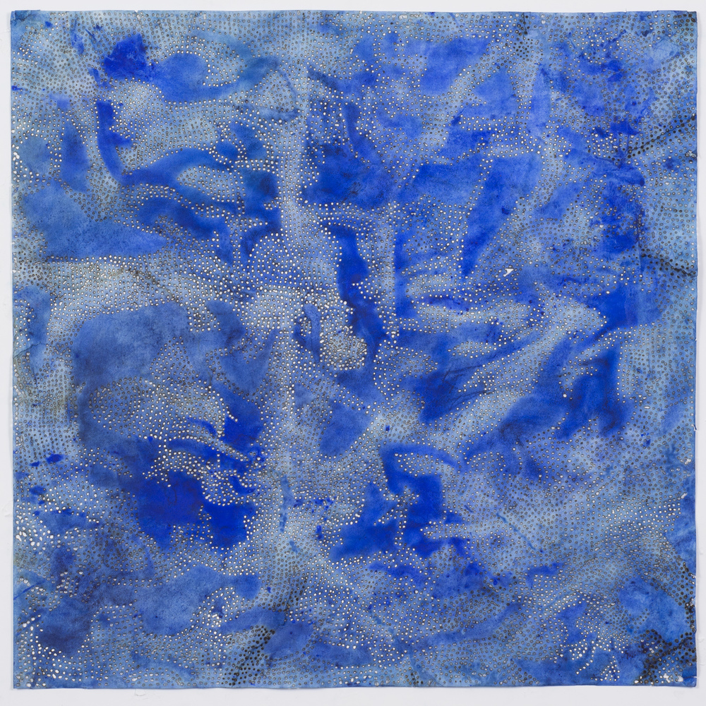 "Blue 10,  2015  solar-burned pigmented paper  22"" x 22"""