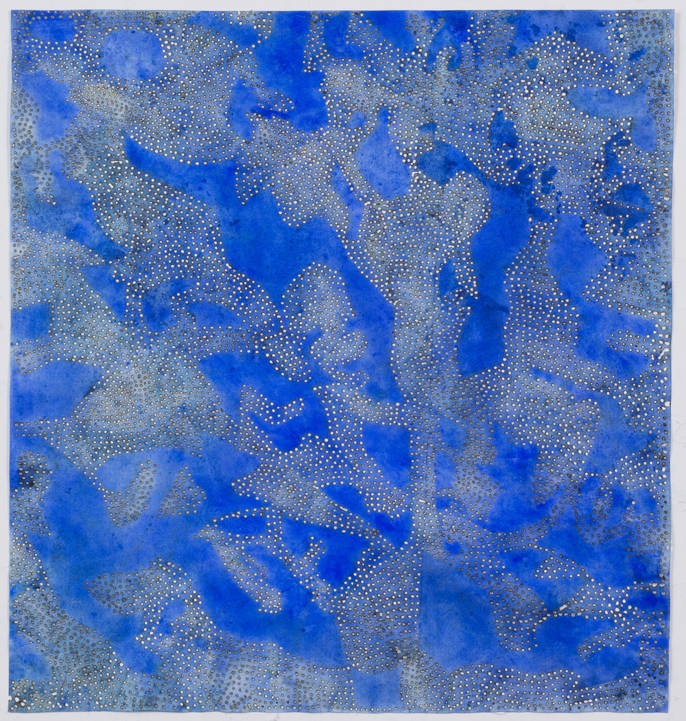 "Blue 15,  2015  solar-burned pigmented paper  22"" x 22"""