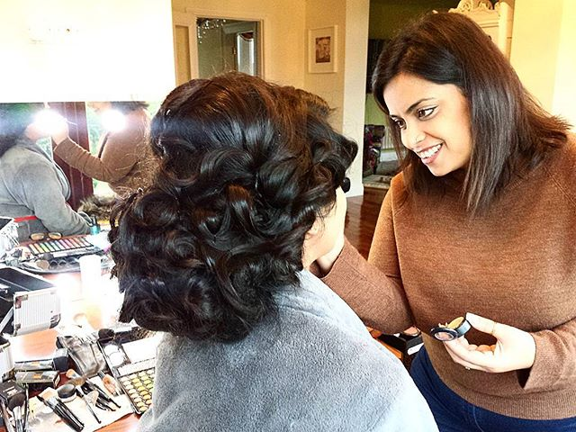 Asiaglam Academy beautiful Reena @maskbrowbar_beauty final signature look in progress. Congratulations you did extremely well, loved your final photoshoot look. Educator: Ruhena Pro Bridal Course www.asiaglam.co.uk 🎨 #Accentuating #Highlighting #strobing #beauty #educator #confidence #makeuplove #girls #glam #style #arabic #subtle ##hair #waves #curlyhair #model #modellife #makeupartist #lowbun #chignon #hairstyles #traditional #southasianbride #photoshoot #style #desi #attire #indian #bridalhair