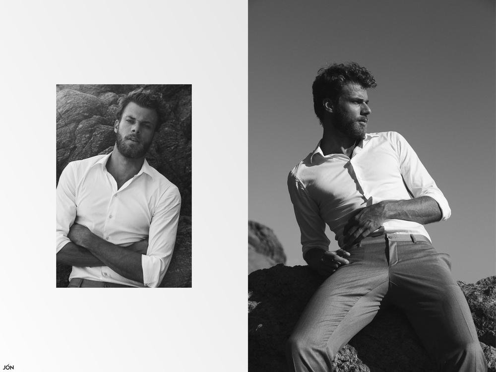 Shirt by Emporio Armani and pants by Ricardo Almeida