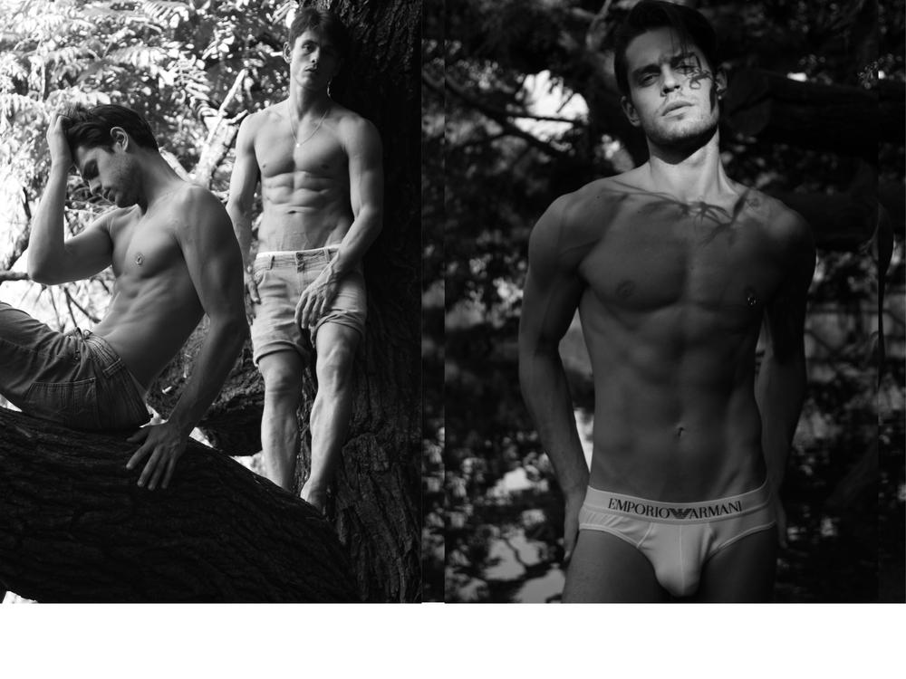 Denim trousers and shorts Diesel , Underwear Emporio Armani