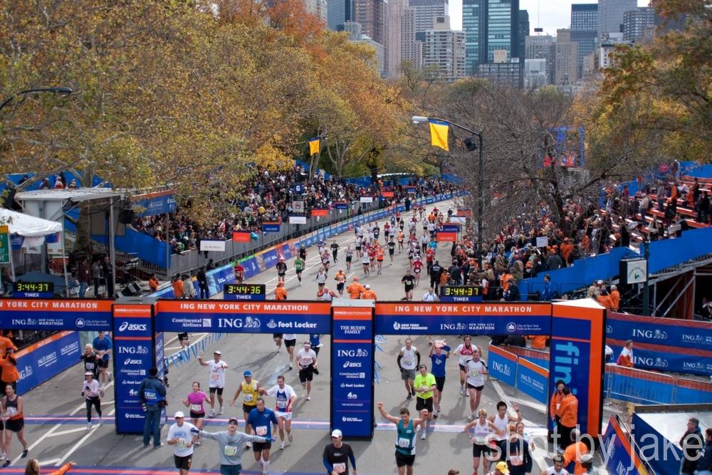 finish of the New York Marathon