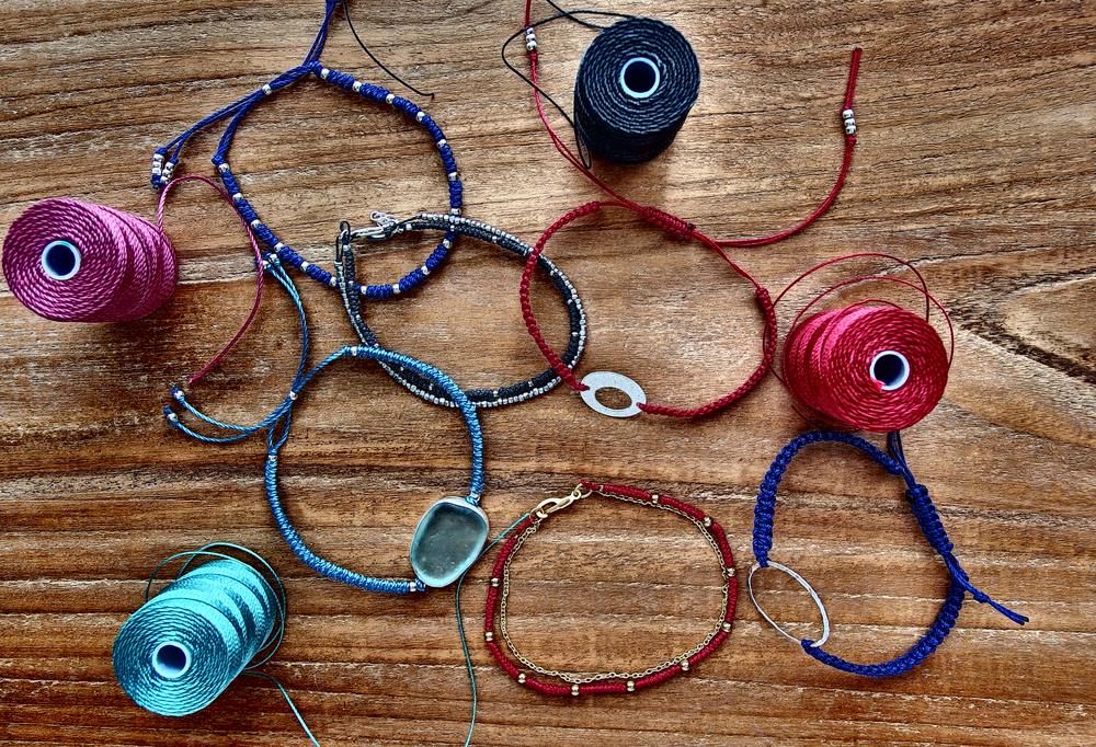 micro macrame bracelets