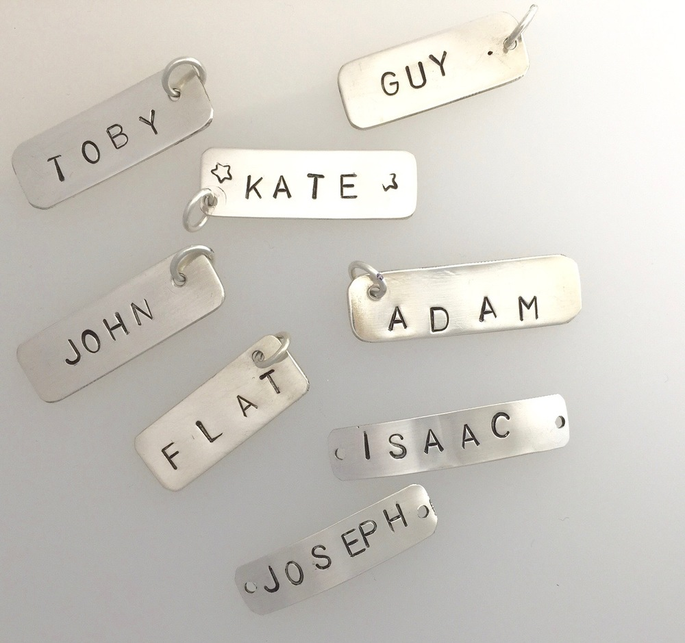 Personalised silver charms