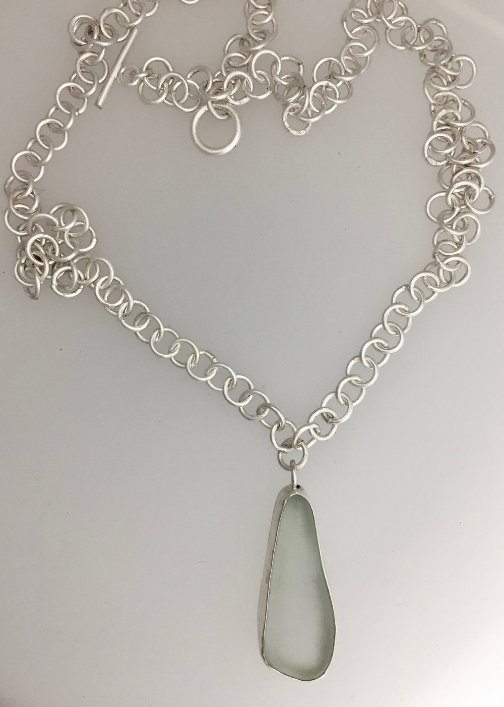 Sea Glass and SIlver Chain.jpg