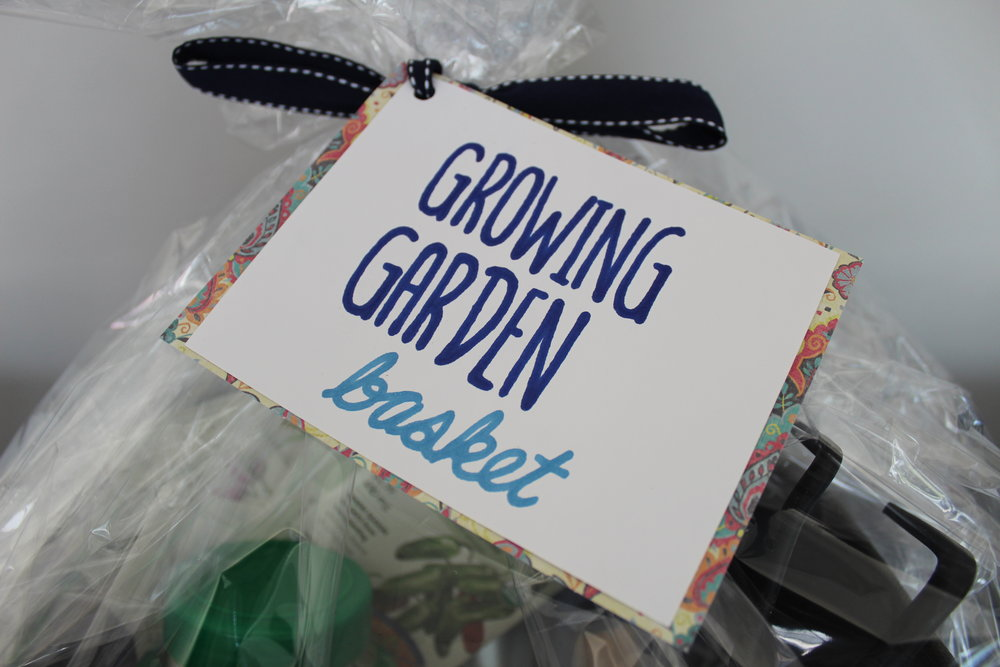 Gardening silent auction basket included all of your gardening essentials.