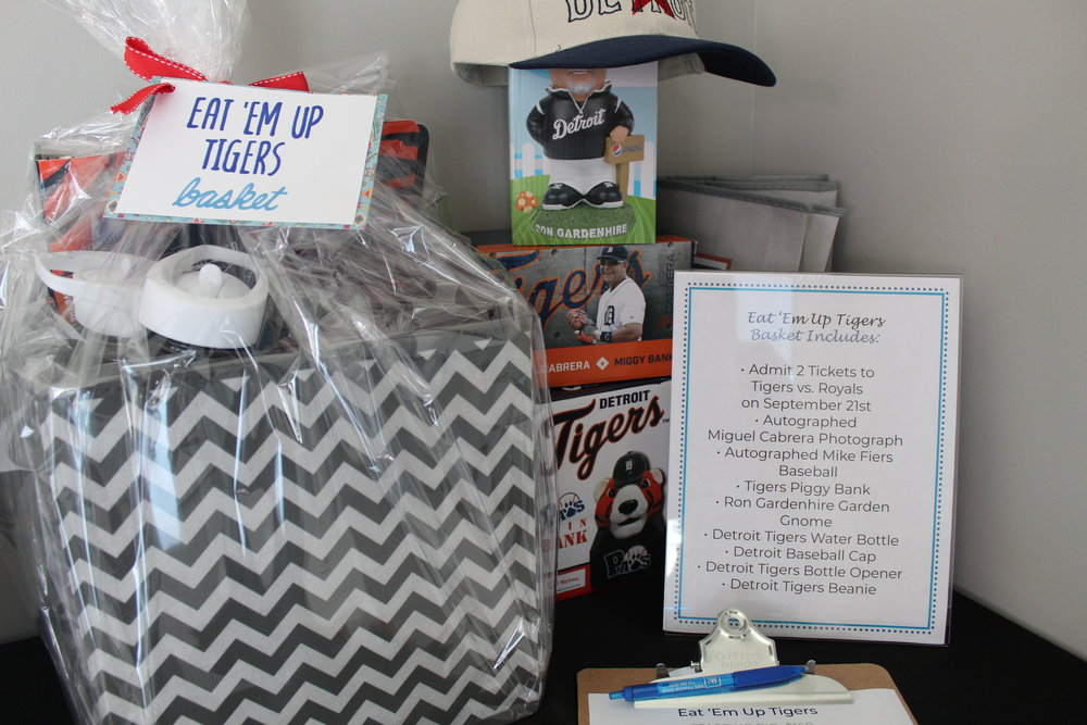 The Detroit Tigers silent auction basket.