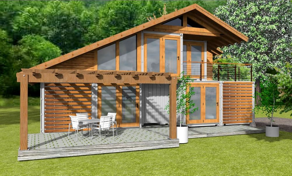 Renders, Plans, And Elevations I Created For An Eco Design Concept For A 3  Bedroom/ 2 Bath Home Made From Shipping Containers And A Custom Wood Super  ...