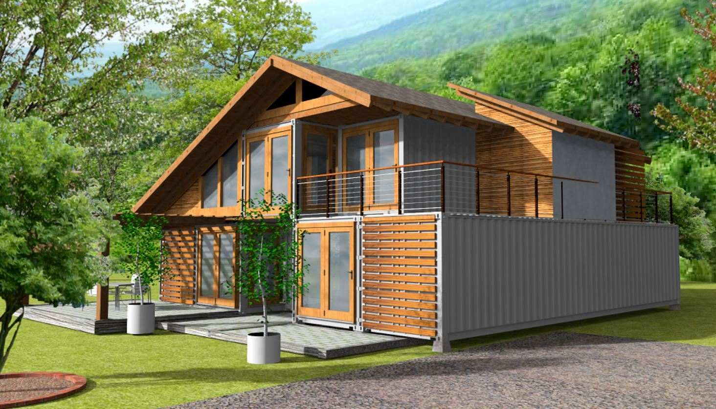 3 bedroom shipping container design — barnett adler