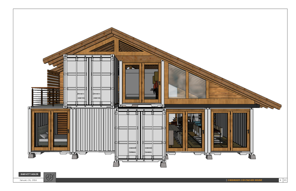 3 bedroom shipping container design — barnett adler on 3 bedroom tiny house, 3 bedroom trailer homes, 3 bedroom modular homes, 3 bedroom log homes, 3 bedroom modern homes, 3 bedroom design, 3 bedroom container home plans, 3 bedroom mobile home, 3 bedroom shipping crate homes,