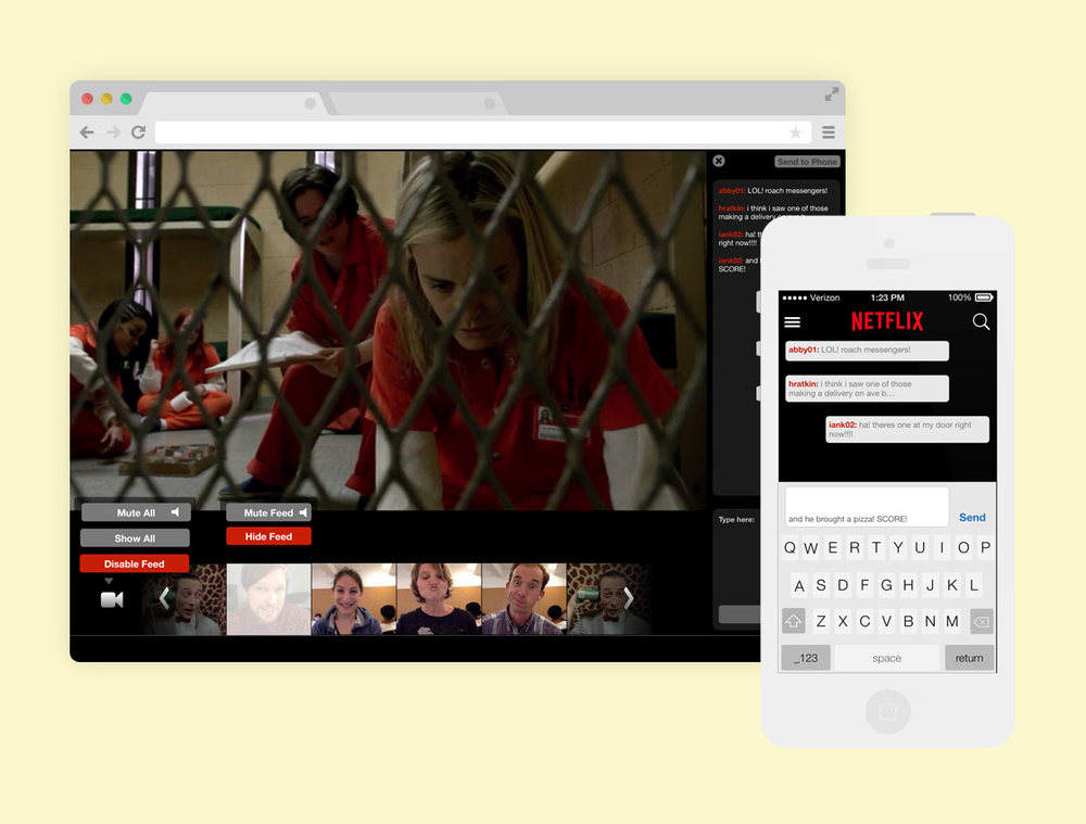 Netflix Screening Room: a space to watch and talk about your favorite Netflix titles with your closest friends. Because, it's better together.