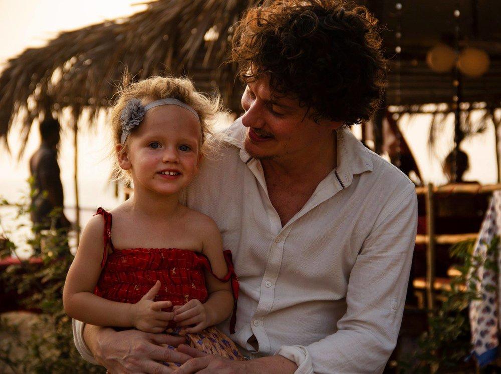 Me & my daughter Josie, in Goa