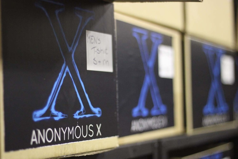 ANONYMOUS X ALSO PROVIDES A SELECTION OF CLOTHES