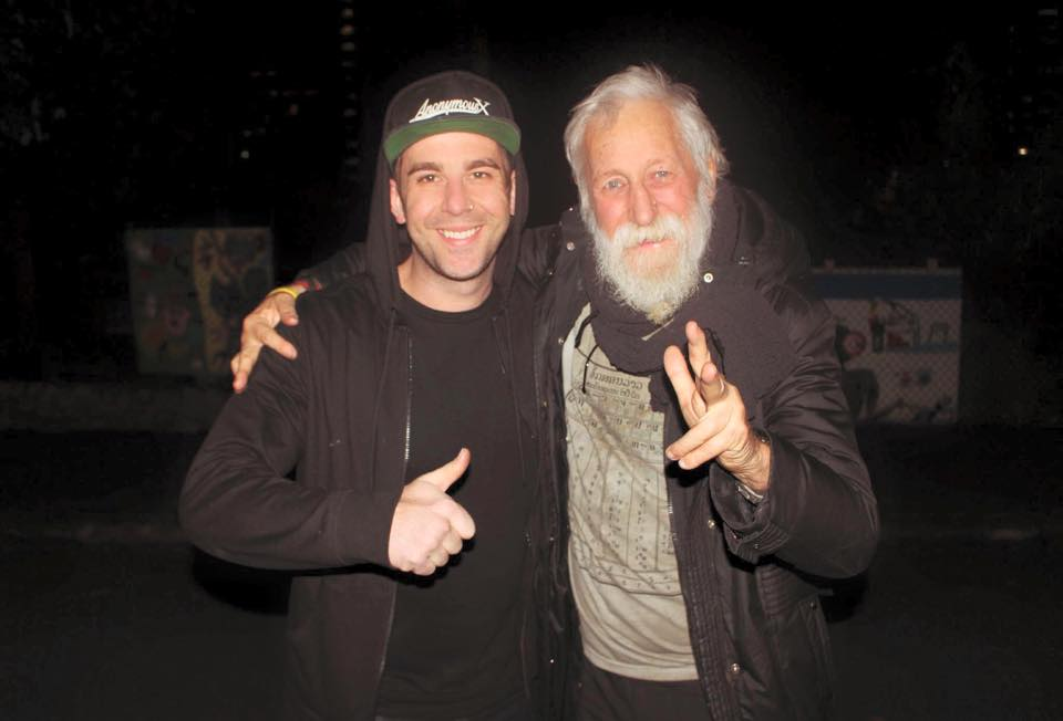 SEAN, FOUNDER OF ANONYMOUS X AND HOMELESS FRIEND MATEY.