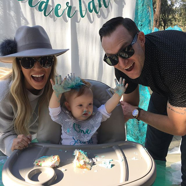 Can't believe our favorite girly Scarlet Ray is ONE! We love being your auntie and uncle and watching you grow is the greatest joy! ❄️ 🎂