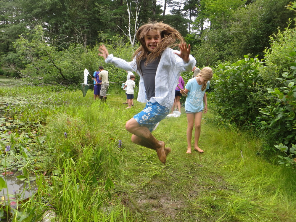 Jumping for joy during Wild Science - our after school adventure club.