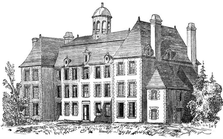 the chateau turgot old drawing