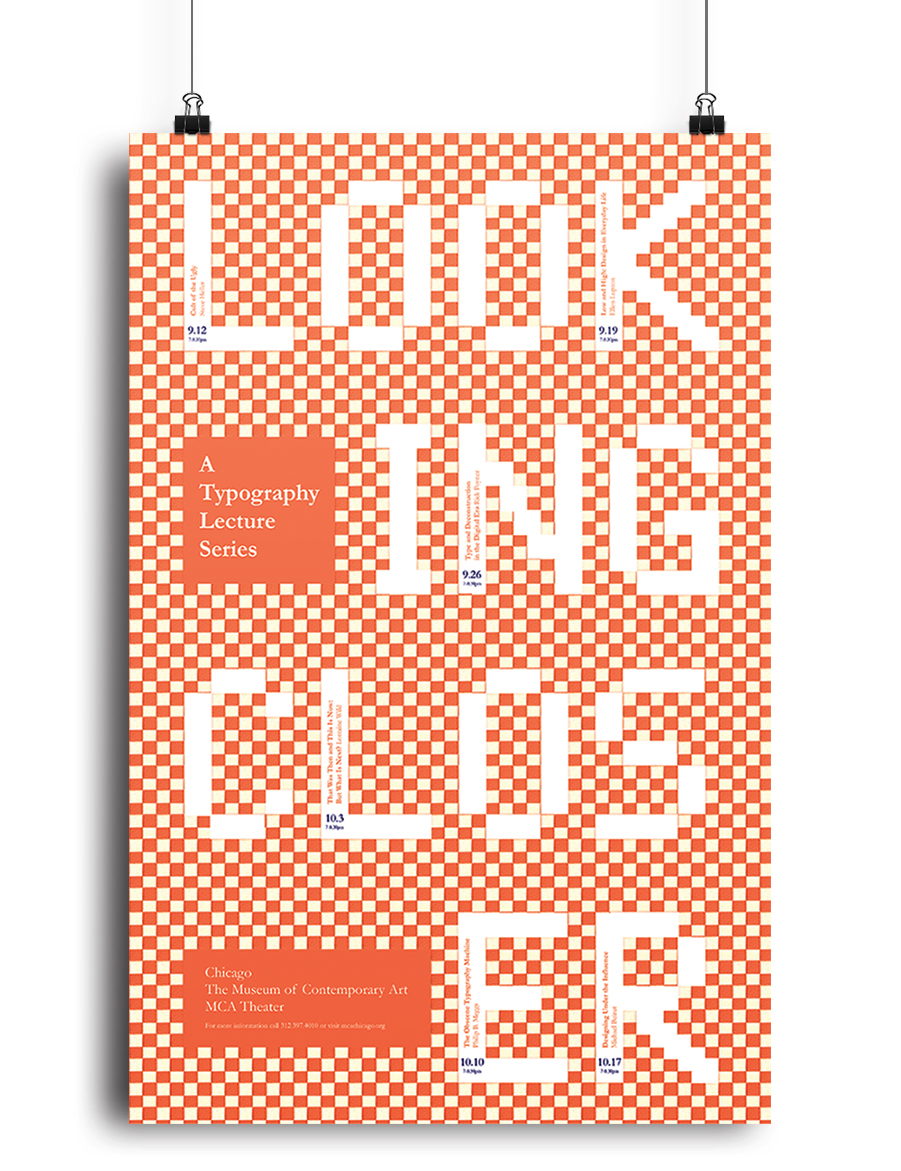 """Looking Closer"" Lecture Series Poster"