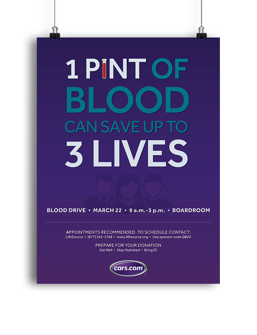 Cars.com Blood Drive Poster