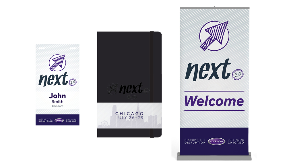 Onsite Supporting Materials - Name Badge, Branded Moleskin Notebook, Signage