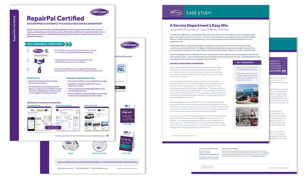 Sales Materials - Sell Sheet and Case Study