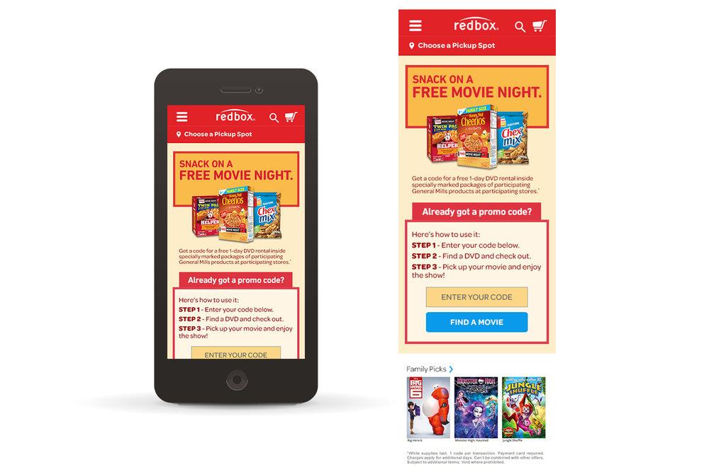 Landing Page (mobile)