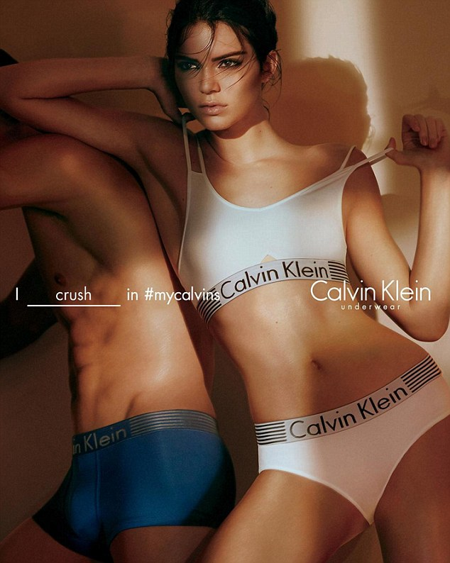 Image - www.dailymail.co.uk  -  Kendall Jenner for Calvin Klein