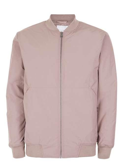 Image: Topman, Premium Pink Padded Bomber Jacket, £65