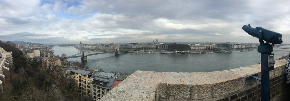 The view from Buda Castle in the day.