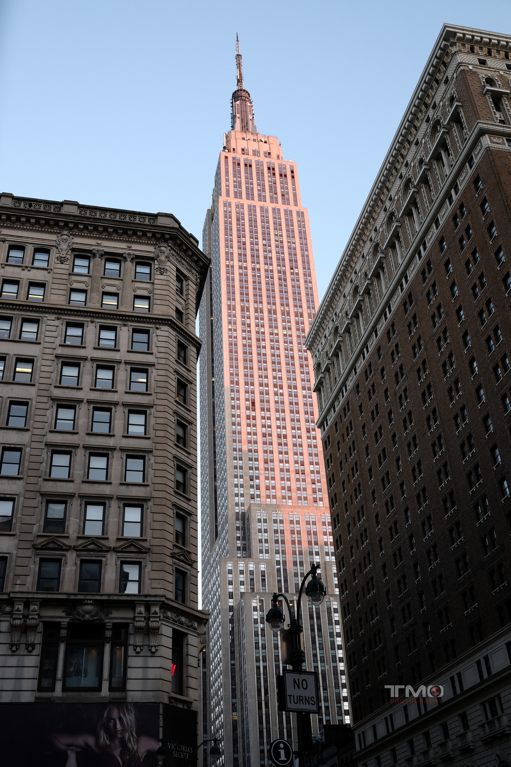 Empire State building from the corner of 34th Street.