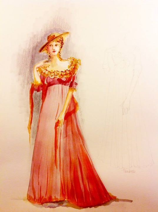 Costume design for Lucy Steele by Susan E. Mickey