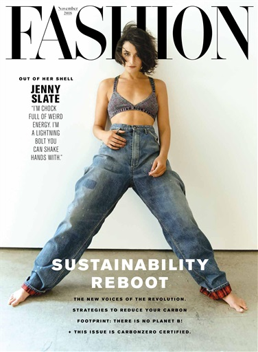 For SUSTAINABILITY Reboot I return to FASHION Magazine to guest edit this important issue which contains many firsts: a Carbonzero offset of the printing impacts, an editorial shot at a recycling & reuse facility, and 3 different references to The Lorax. Slowly, surely and chicly, sustainability is becoming the new normal.