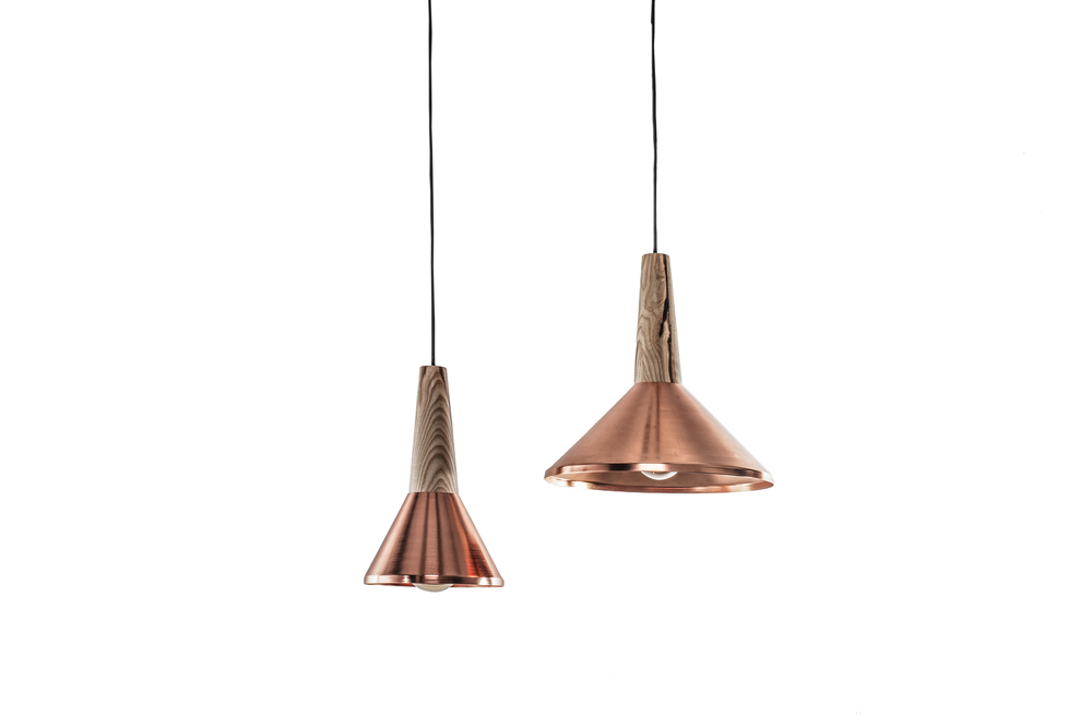Copper shades with ash..